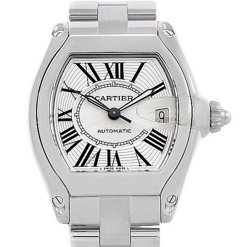 5270 Cartier Roadster Men's Steel Large Watch W62025V3 SwissWatchExpo
