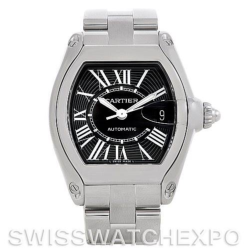 5254 Cartier Roadster Mens Steel Large Watch W62041V3 SwissWatchExpo