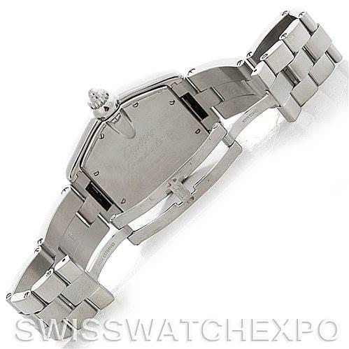 5260 Cartier Roadster Mens Steel Large Watch W62025V3 SwissWatchExpo