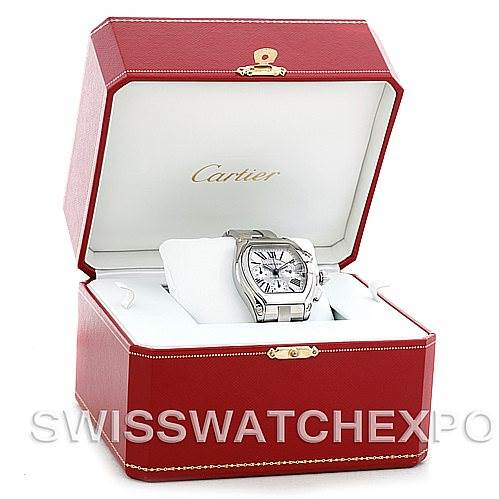 5556 Cartier Roadster Chronograph Mens Watch W62019X6 SwissWatchExpo