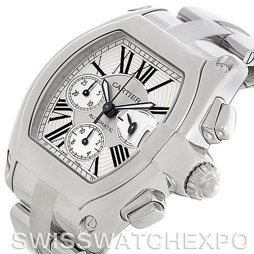 Cartier Roadster Chronograph Mens Watch W62019X6 SwissWatchExpo