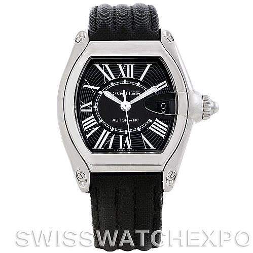 5153 Cartier Roadster Mens Steel Large Watch W62041V3 SwissWatchExpo