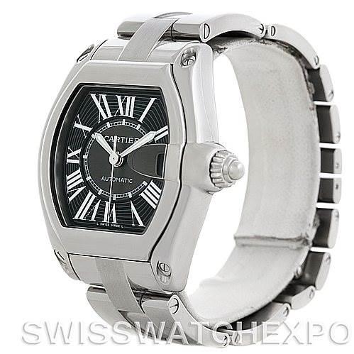 5811 Cartier Roadster Mens Steel Large Watch W62041V3 SwissWatchExpo