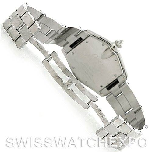 5823 Cartier Roadster Mens Steel Large Watch W62041V3 SwissWatchExpo