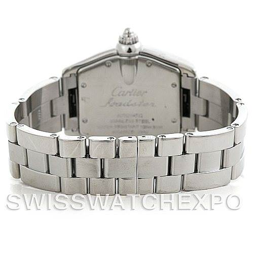 5868 Cartier Roadster Large Mens Steel Black Dial Watch W62004V3 SwissWatchExpo