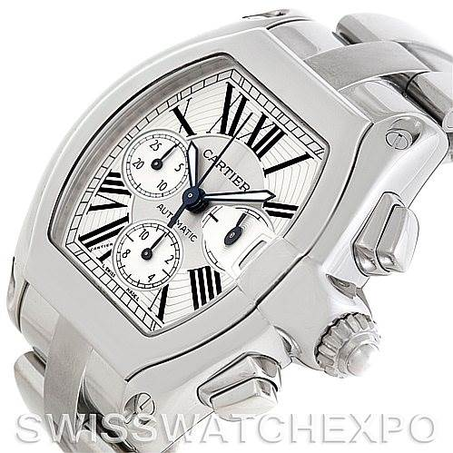 5936 Cartier Roadster Chronograph Mens Watch W62019X6 SwissWatchExpo