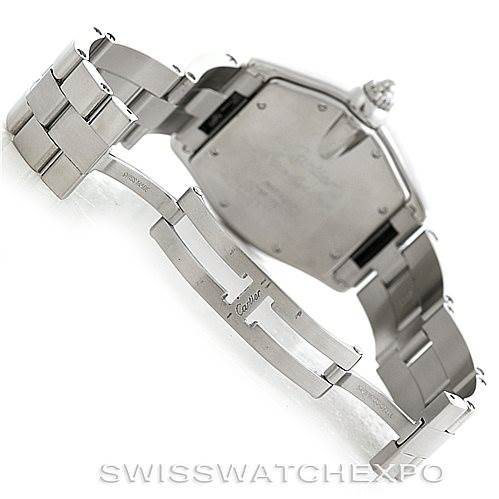 Cartier Roadster Mens Steel Large Watch W62025V3 SwissWatchExpo