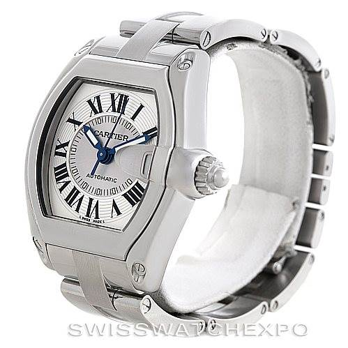 6083 Cartier Roadster Mens Steel Large Watch W62025V3 SwissWatchExpo