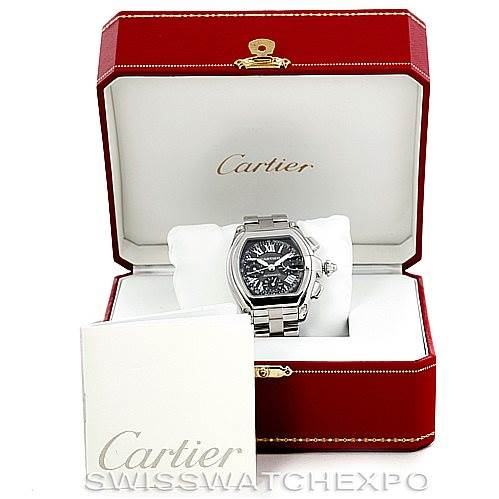 6273 Cartier Roadster Chronograph Mens Watch W62007X6 SwissWatchExpo