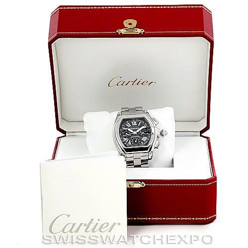 Cartier Roadster Chronograph Mens Watch W62007X6 SwissWatchExpo