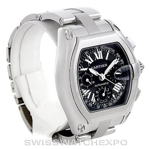 6273 Cartier Roadster Chronograph Mens Watch W62007X6 SwissWatchExpo