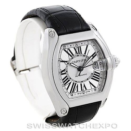 6393 Cartier Roadster Mens XL GMT Watch W62032X6 SwissWatchExpo