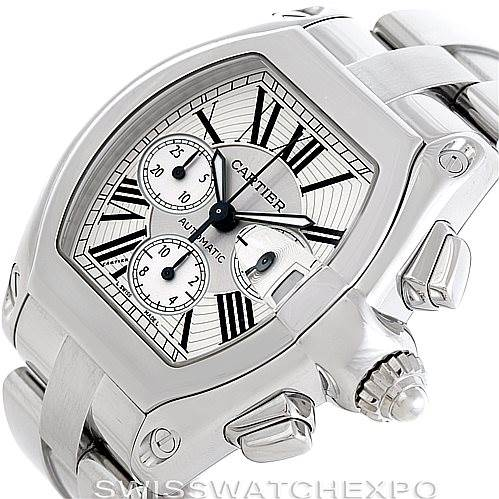6640 Cartier Roadster Chronograph Mens Watch W62019X6 SwissWatchExpo