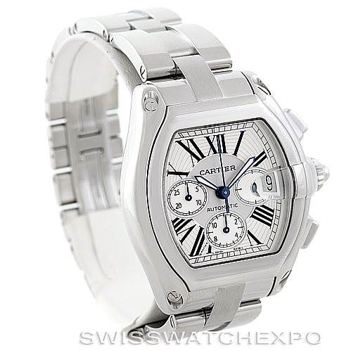 6848 Cartier Roadster Chronograph Mens Watch W62019X6 SwissWatchExpo