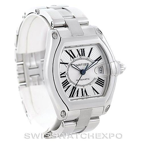6856 Cartier Roadster Mens Steel Large Watch W62025V3 SwissWatchExpo