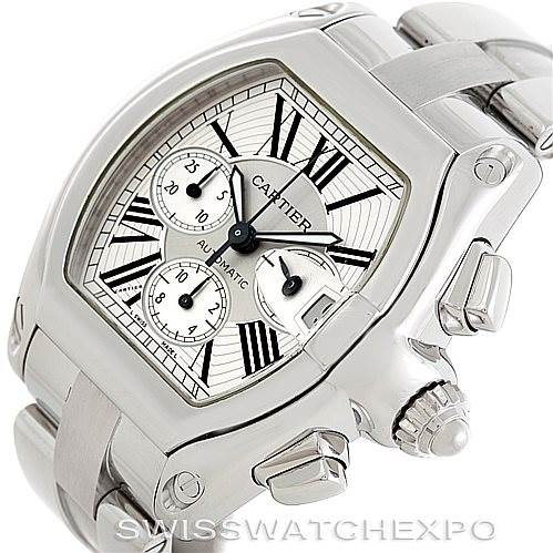 6887 Cartier Roadster Chronograph Mens Watch W62019X6 SwissWatchExpo