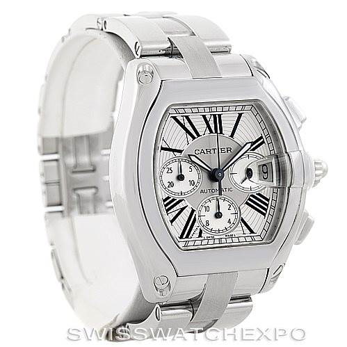 Cartier Roadster Chronograph Mens Watch W62019X6 SwissWatchExpo