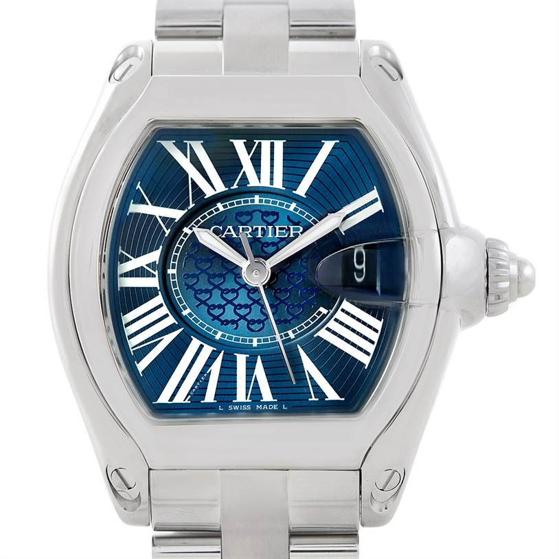 6963 Cartier Roadster Mens XL 100th Anniversary Watch W6206012 SwissWatchExpo
