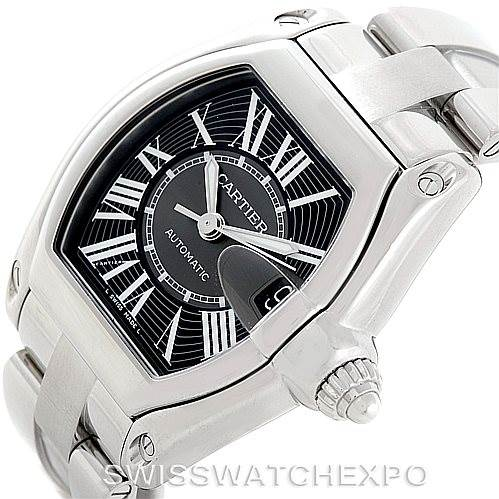 7015 Cartier Roadster Mens Steel Large Watch W62041V3 SwissWatchExpo