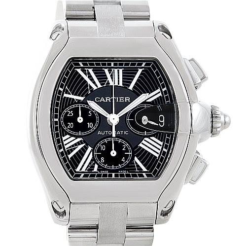 7078 Cartier Roadster Chronograph Mens Watch W62020X6 SwissWatchExpo