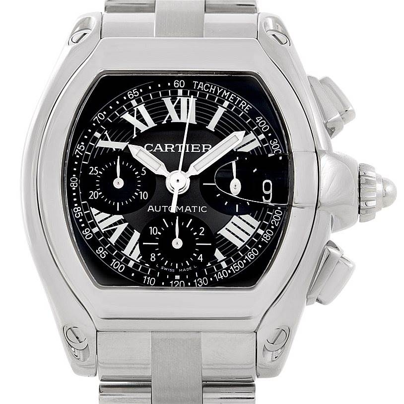 7038 Cartier Roadster Chronograph Mens Watch W62007X6 SwissWatchExpo