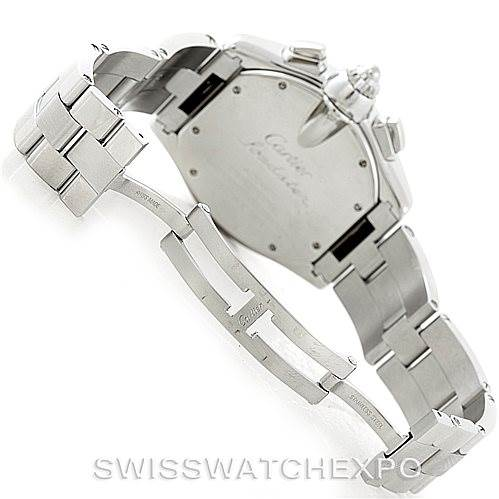 7051 Cartier Roadster Chronograph Mens Watch W62019X6 SwissWatchExpo
