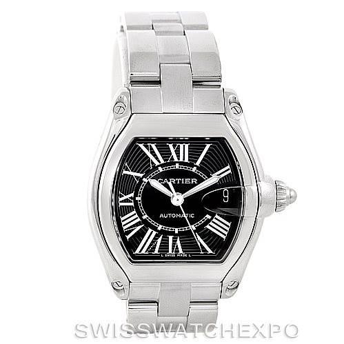 7045 Cartier Roadster Mens Steel Large Watch W62041V3 SwissWatchExpo