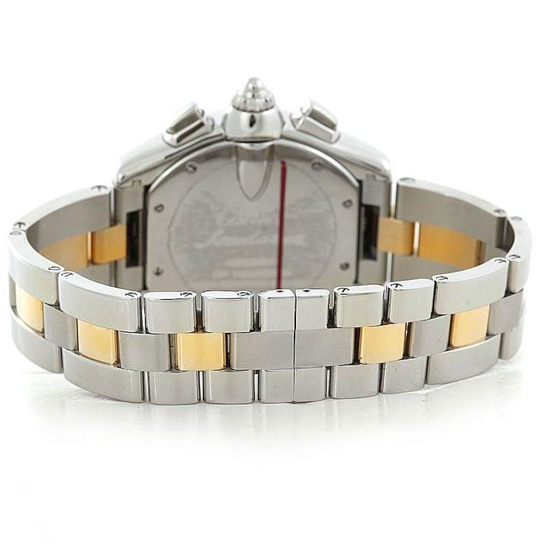 Cartier Roadster Chronograph Mens Steel Yellow Gold Watch W62027Z1 SwissWatchExpo