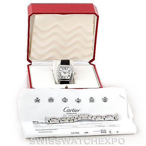 7296 Cartier Roadster Mens Steel Large Watch W62025V3 SwissWatchExpo