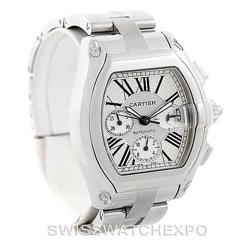 7325 Cartier Roadster Chronograph Mens Watch W62019X6 SwissWatchExpo