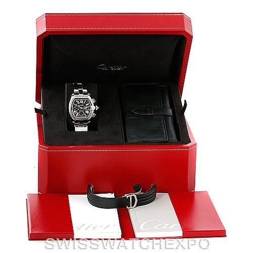 7321 Cartier Roadster Chronograph Mens Watch W62020X6 SwissWatchExpo