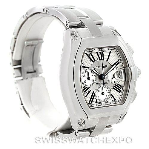7591 Cartier Roadster Chronograph Mens Watch W62019X6 SwissWatchExpo