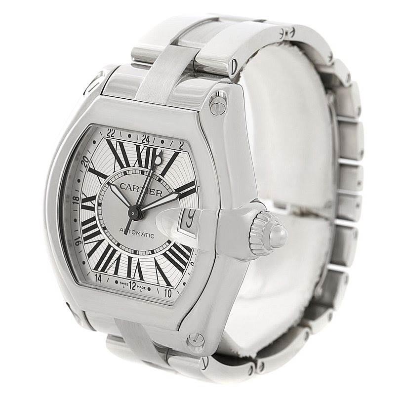 7807 Cartier Roadster Mens XL GMT Watch W62032X6 SwissWatchExpo