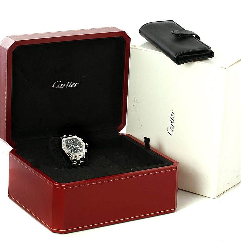 7973 Cartier Roadster Chronograph Mens Watch W62020X6 SwissWatchExpo