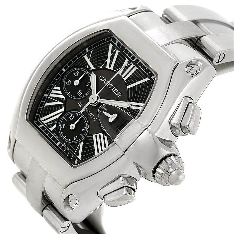 Cartier Roadster Chronograph Mens Watch W62020X6 SwissWatchExpo