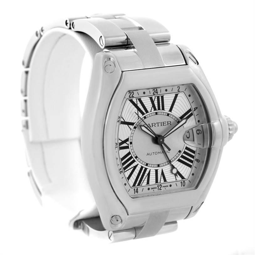 Cartier Roadster Mens XL GMT Watch W62032X6 SwissWatchExpo