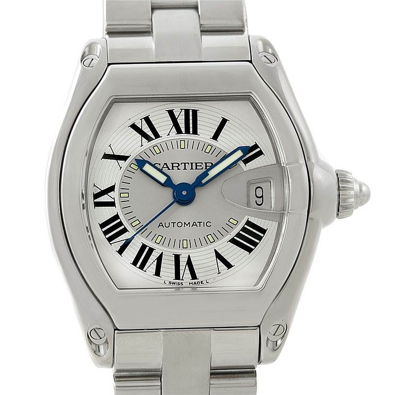 Cartier Roadster Mens Steel Large Watch W62000V3 SwissWatchExpo