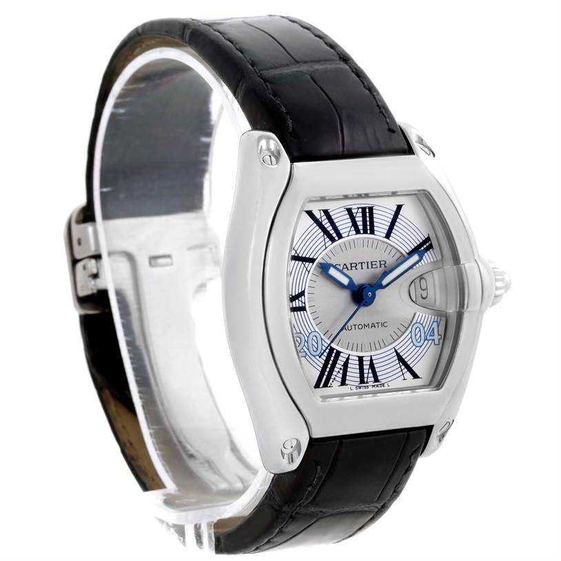 8113 Cartier Roadster Mens Large Watch W62025V3 Greek Edition SwissWatchExpo