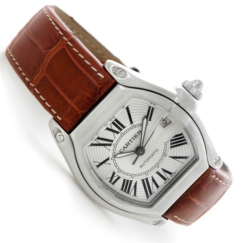 Cartier Roadster Mens Steel Large Watch W62025V3 SwissWatchExpo