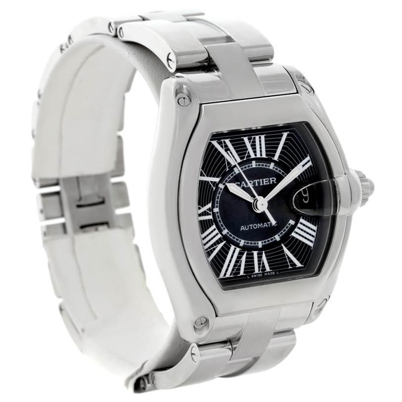 8626 Cartier Roadster Mens Steel Large Watch W62041V3 SwissWatchExpo