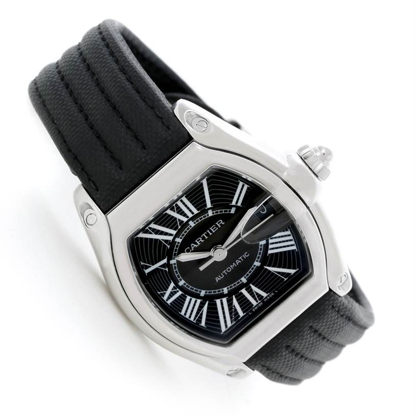 8626 Cartier Roadster Mens Steel Large Watch W62041V3 SwissWatchExpo