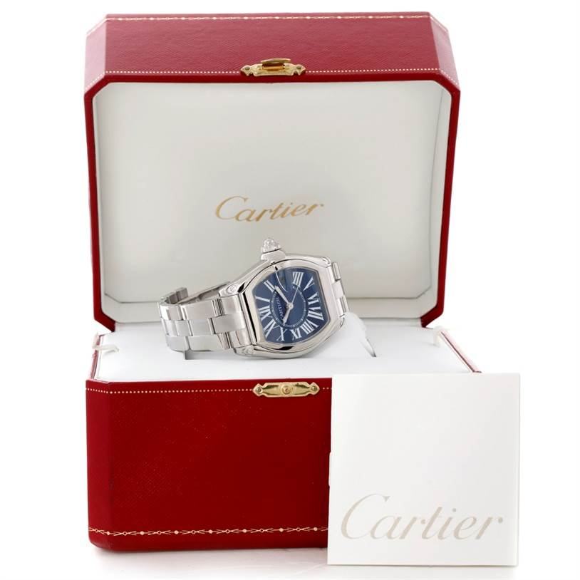 8850 Cartier Roadster Mens XL 100th Anniversary Watch W6206012 SwissWatchExpo