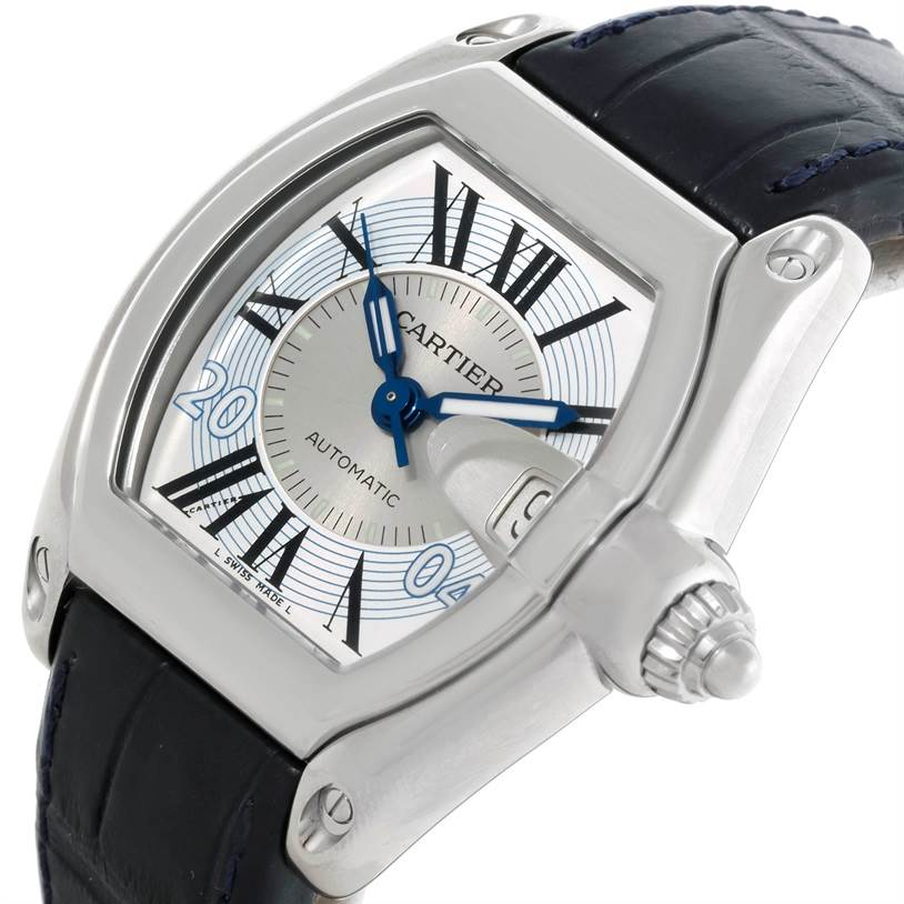 8995 Cartier Roadster Mens Large Watch W62025V3 Greek Edition SwissWatchExpo