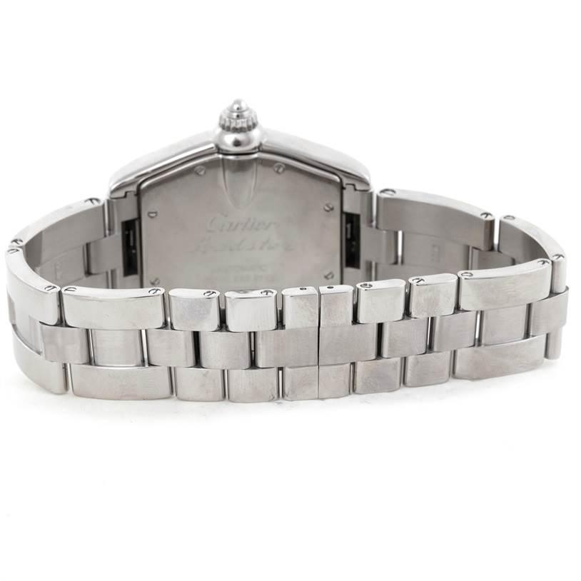 9347 Cartier Roadster Mens Steel Large Watch W62000V3 SwissWatchExpo