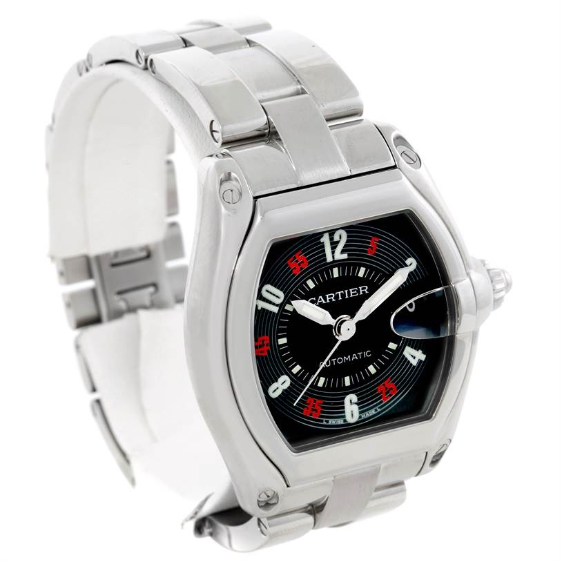 Cartier Roadster Large Mens Steel Vegas Roulette Dial Watch W62002V3 SwissWatchExpo