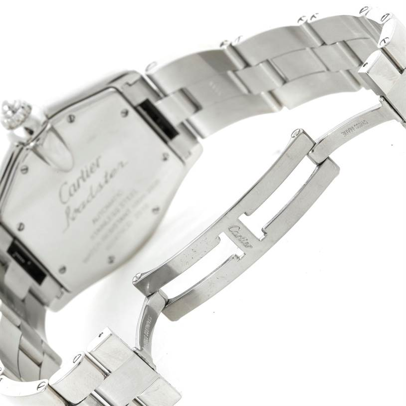 9422 Cartier Roadster Large Mens Steel Vegas Roulette Dial Watch W62002V3 SwissWatchExpo