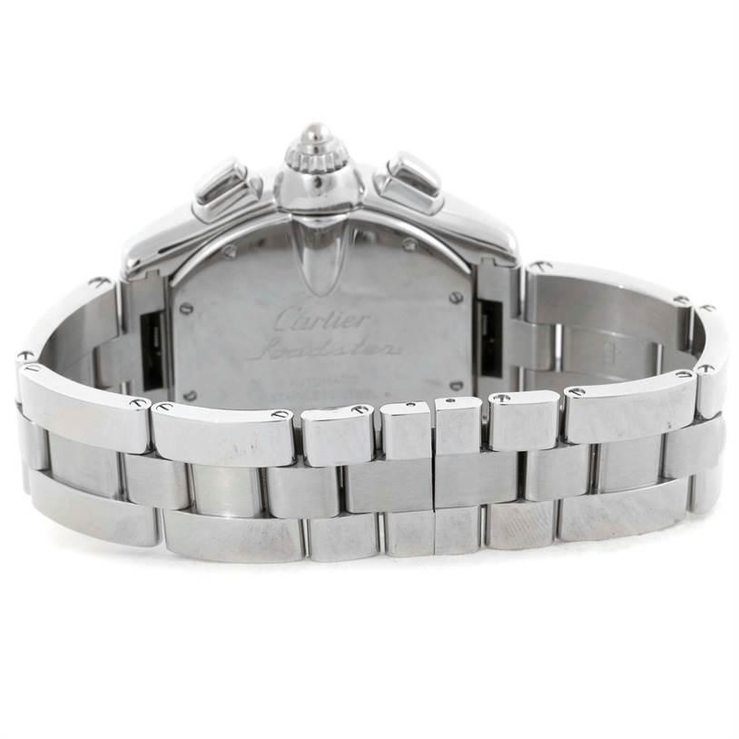 Cartier Roadster Chronograph Black Dial Mens Watch W62020X6 SwissWatchExpo
