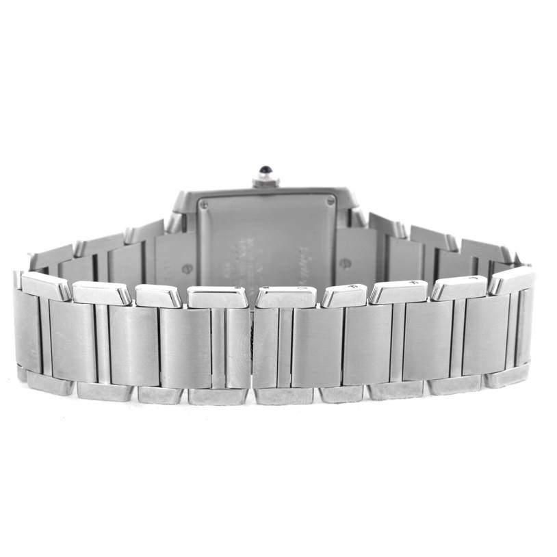 10206 Cartier Tank Francaise Guilloche Dial Large Mens Watch W51002Q3 SwissWatchExpo