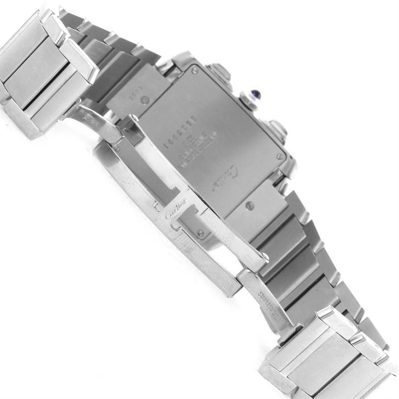 9519 Cartier Tank Francaise Stainless Steel Chronoflex Watch W51001Q3 SwissWatchExpo