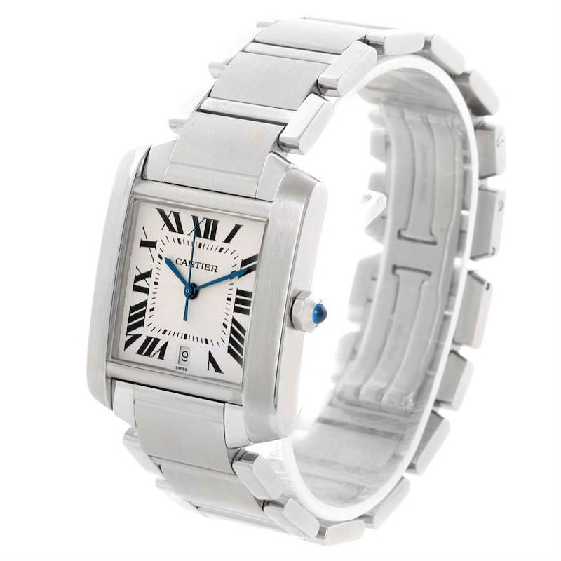 Cartier Tank Francaise Automatic Silver Dial Large Watch W51002Q3 SwissWatchExpo